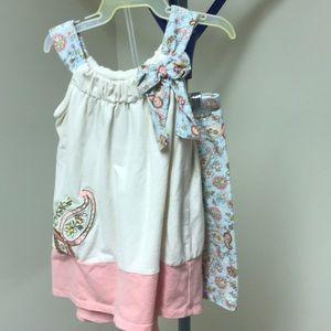 Bonnie baby paisley dress with leggings set